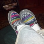 These are my newest addition to my daily wardrobe, house slippers....  Digging them..